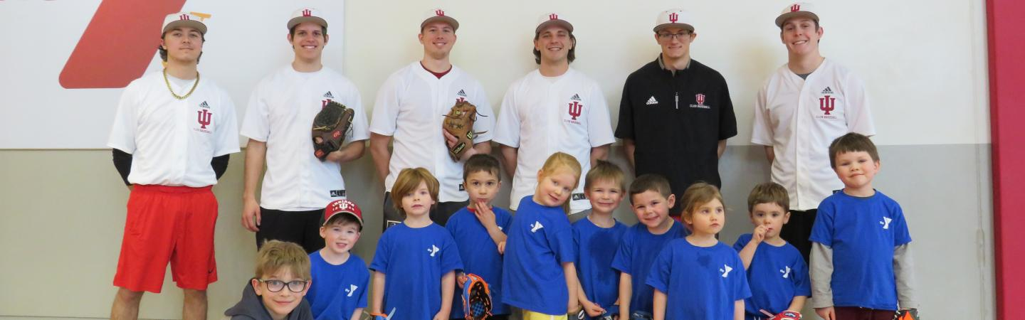 Youth t-ball league poses for a picture at the Monroe County Y